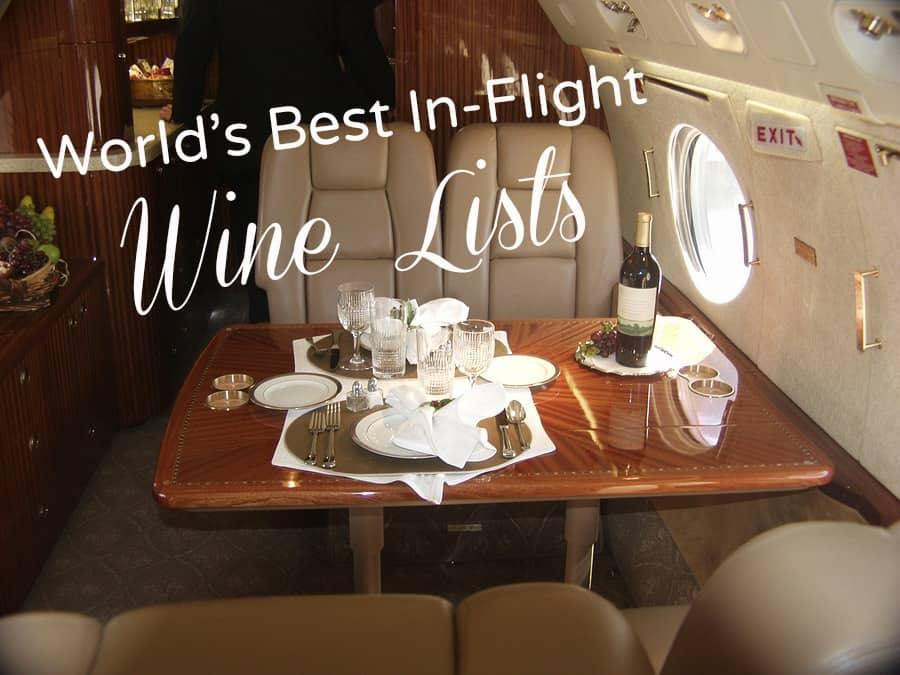 wine on a plane