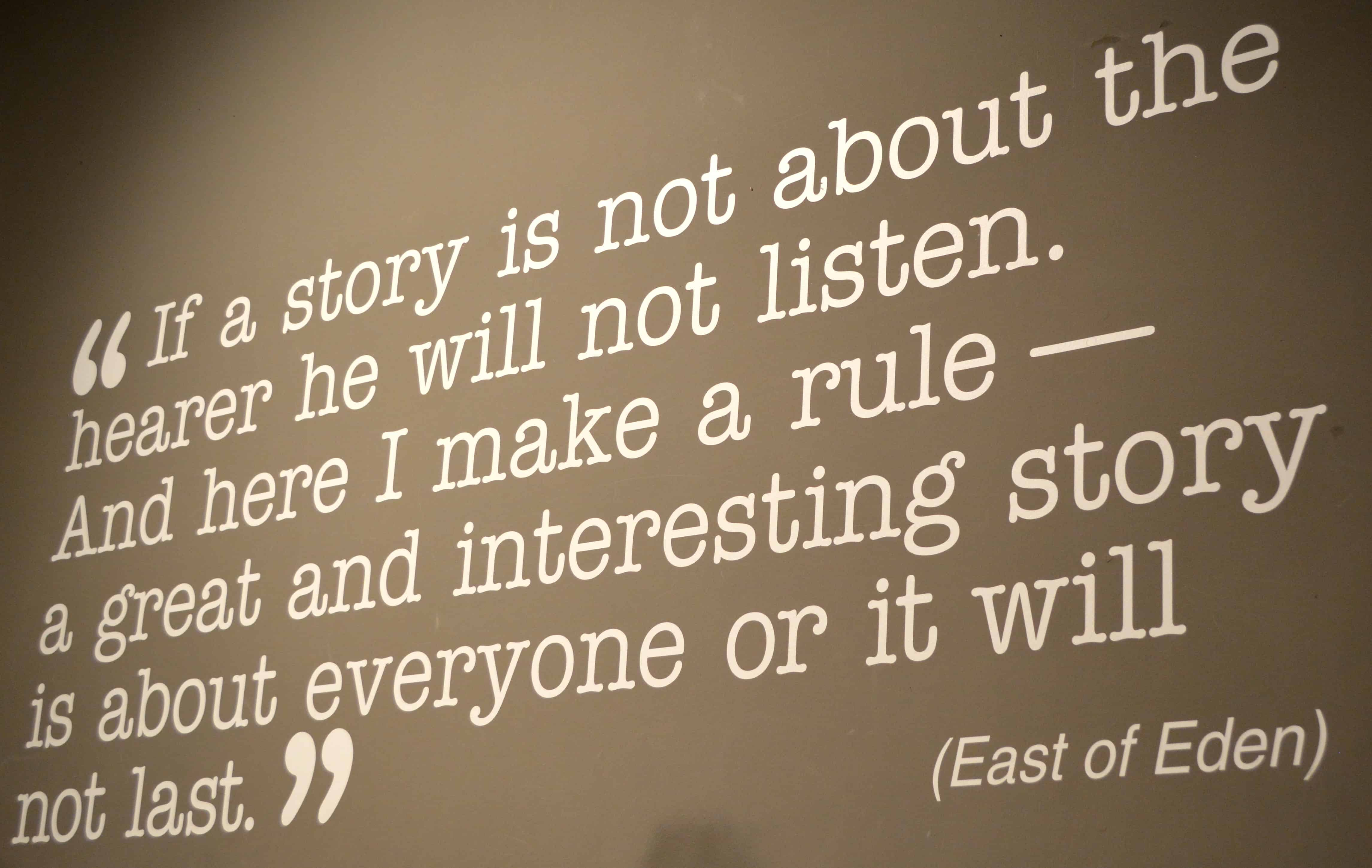 reflections of john steinbecks personal life in east of eden John steinbeck was the type of author who  within his novels are characters who seem to breathe the very reality of life  (east of eden was made into.
