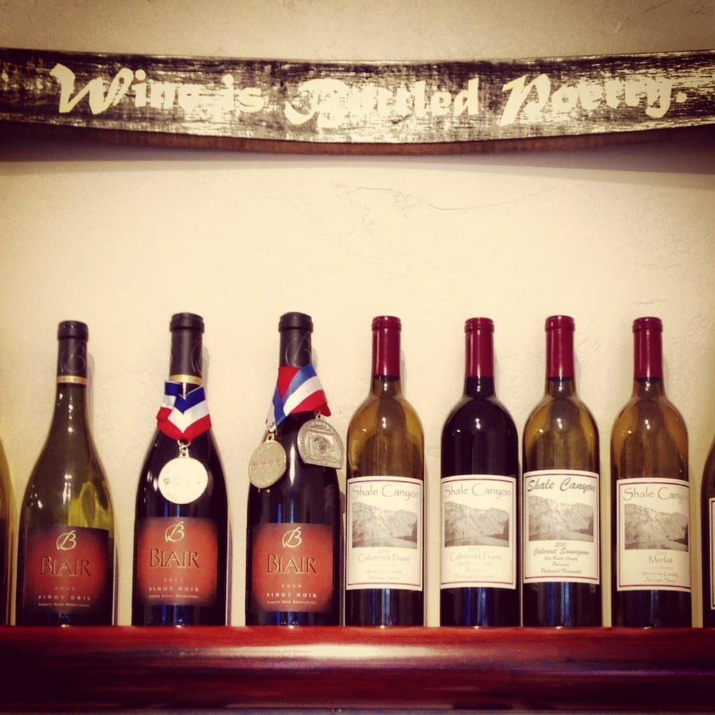 Blair Wines, Monterey wine tasting