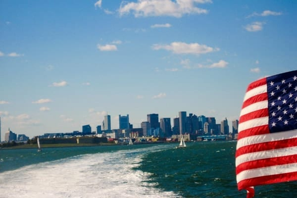 Overlooking the Boston Skyline on a Whale Watching Tour by Jenna at Wander the Map