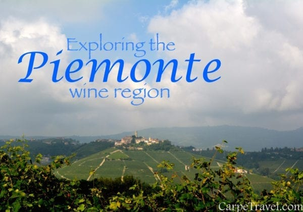 Exploring wines in the Piemonte wine region of Italy