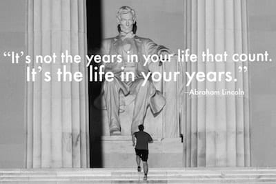 """""""It's not the years in your life that count. It's the life in your years."""" –Abraham Lincoln Click over for 53 more inspirational travel quotes - one for each week of the year."""