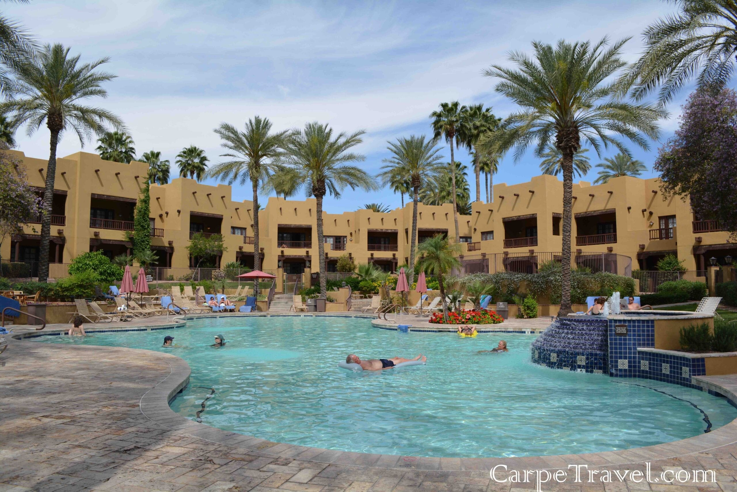Check in the wigwam resort for Pictures of the pool