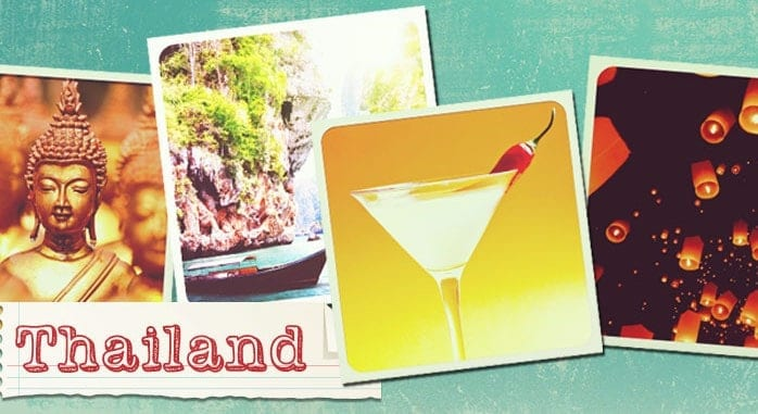 Drinks from around the world: Watch the sun go down on a deserted Thai beach whilst sipping on a traditional Siam Sunray, a cocktail made from lemongrass and red chillies that really packs a punch.