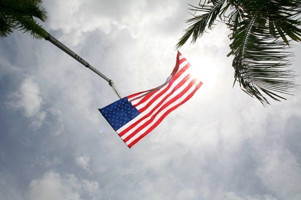 Flag at the 4th of July Celebration in Delray Beach, FL. Photo by Wander The Map