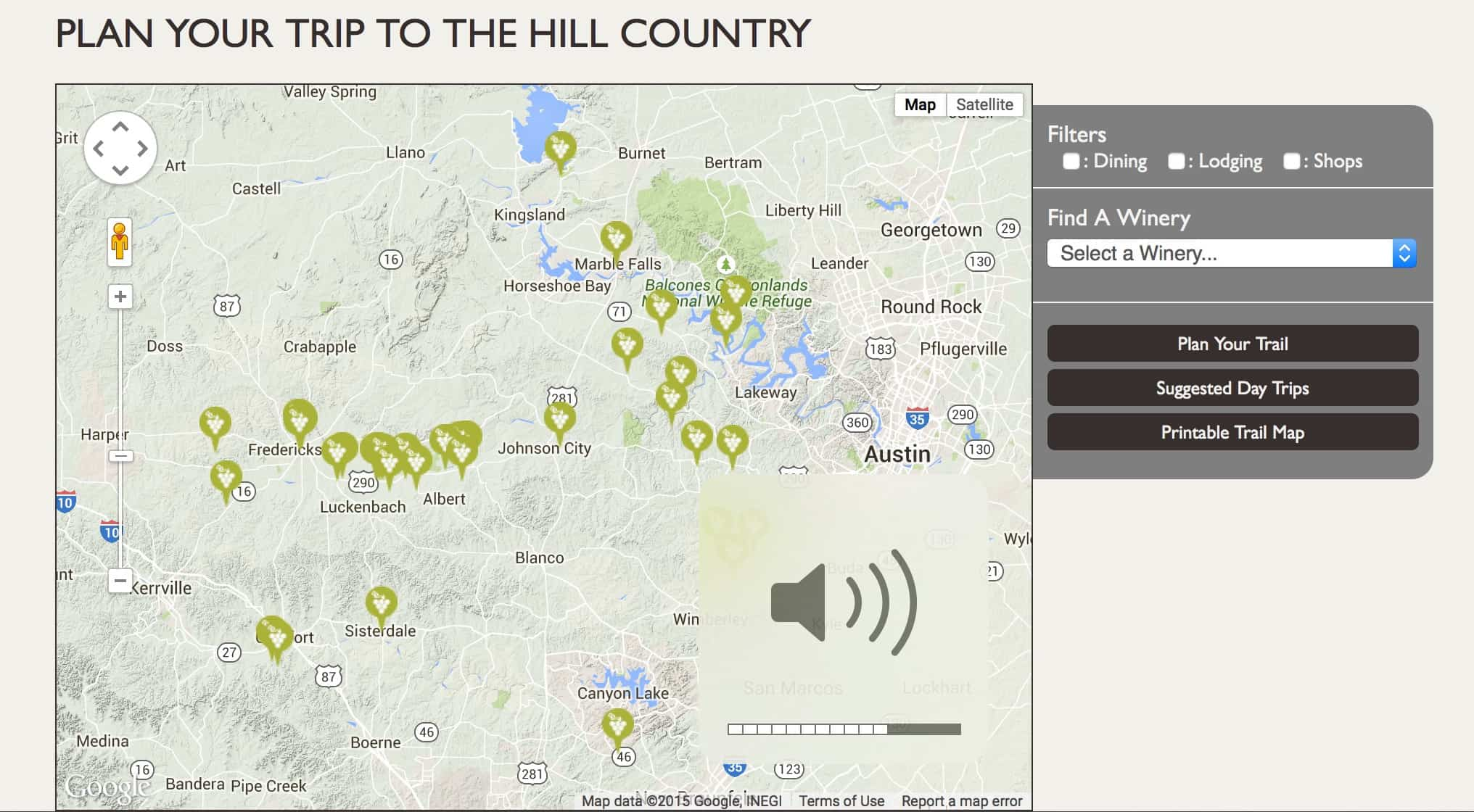 Plan your route to visit Texas Hill Country Wineries
