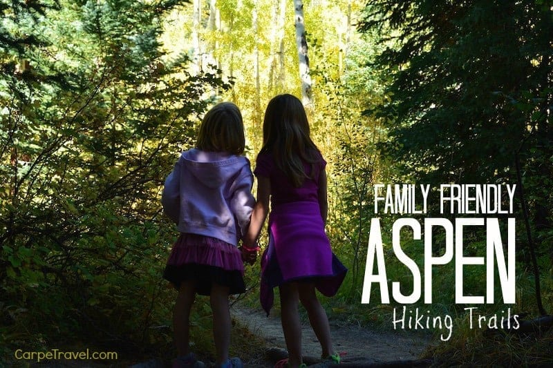 hiking with kids in aspen