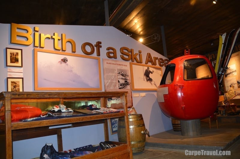 The red gondola shown here was part of Crested Butte's first gondola, it sat three people (not comfortably). Crested Butte was the second Colorado ski resort to install a gondola; Vail was the first. Click over for more travel trivia.