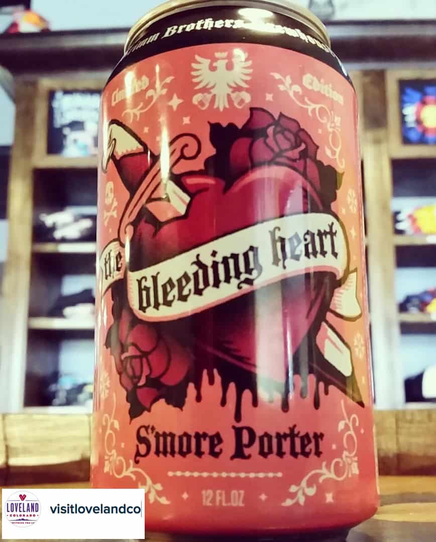Grimm Brothers Brewhouse, in collaboration with the Valentine Re-Mailing Program, each year creates a special Valentine's Day beer called the Bleeding Heart. It is only available in Loveland liquor stores, restaurants and the brewery. It tastes like craft beer, but they swear it serves a dual purpose as love potion, perfect for a first date.