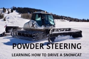 Powder Steering: Learning to drive a snowcat