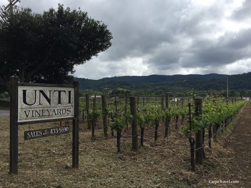 The best Sonoma County wineries - recommendations from those who REALLY know – the locals: Unti Vineyards