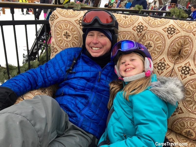 Family Ski Trip Tips to Save Money Skiing: Find deals and ski passes at ski resorts that allow kids to ski free. Click over to Carpe Travel for 30 more tips on help you save money on your family ski trip.