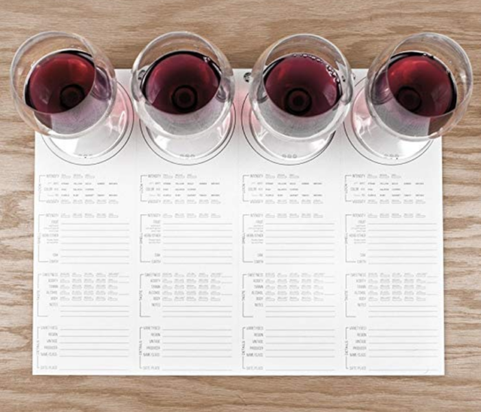 Ultimate Gift Guide for Wine Lovers - Wine Tasting Notes Placemats