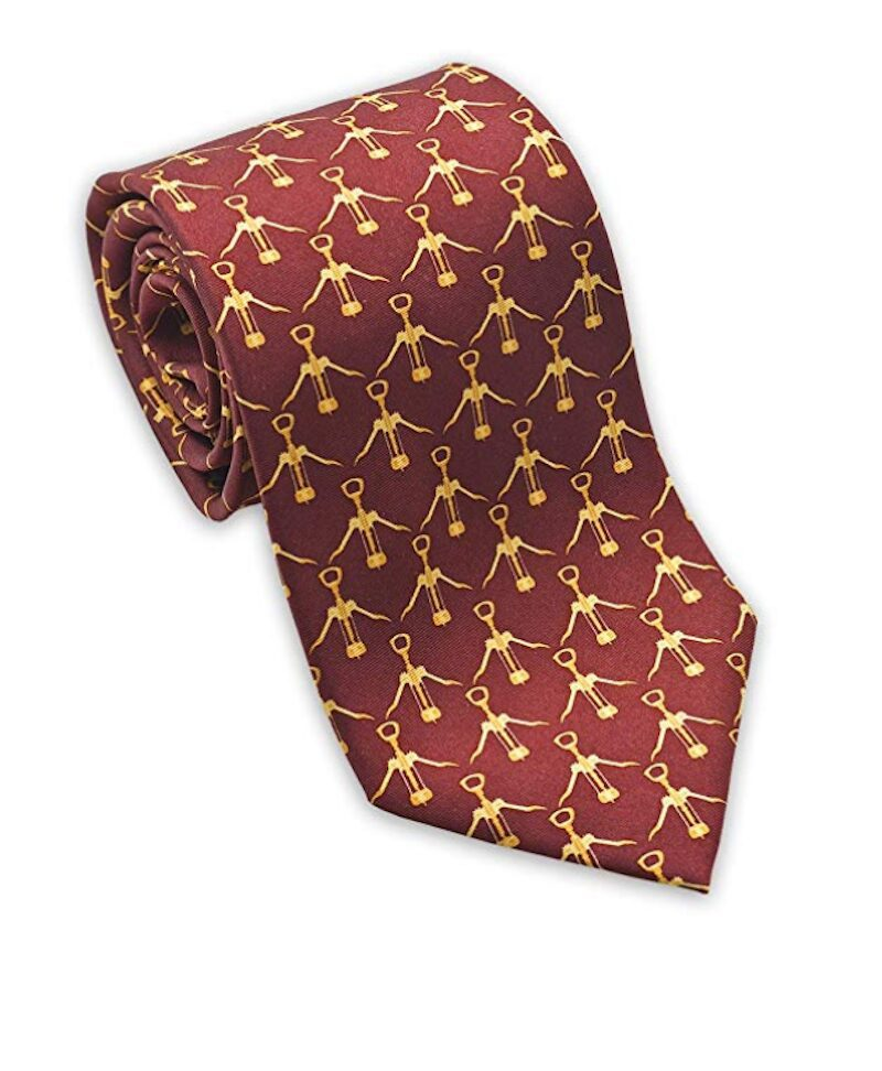 Ultimate Wine Gift Guide - Wine Corkscrew Silk Necktie
