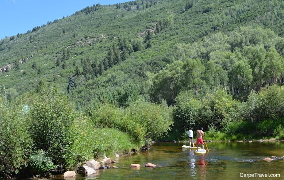 Paddle Boarding in Palisade - The Heart of Colorado Wine Country - is a great way to see the area