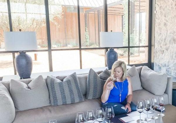 Seated wine tasting at Brave & Maiden, a new Santa Ynez Winery