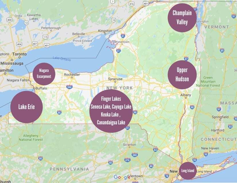 New York Wine Country Map