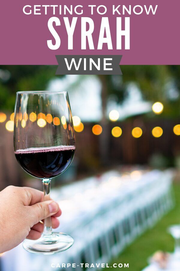 Getting to know Syrah wine. Time to pour into the details about your favorite red wine grape varieties and the wines they're producing! Click over for Carpe Travels guide to understanding the wine regions producing Syrah wine and the grape itself.