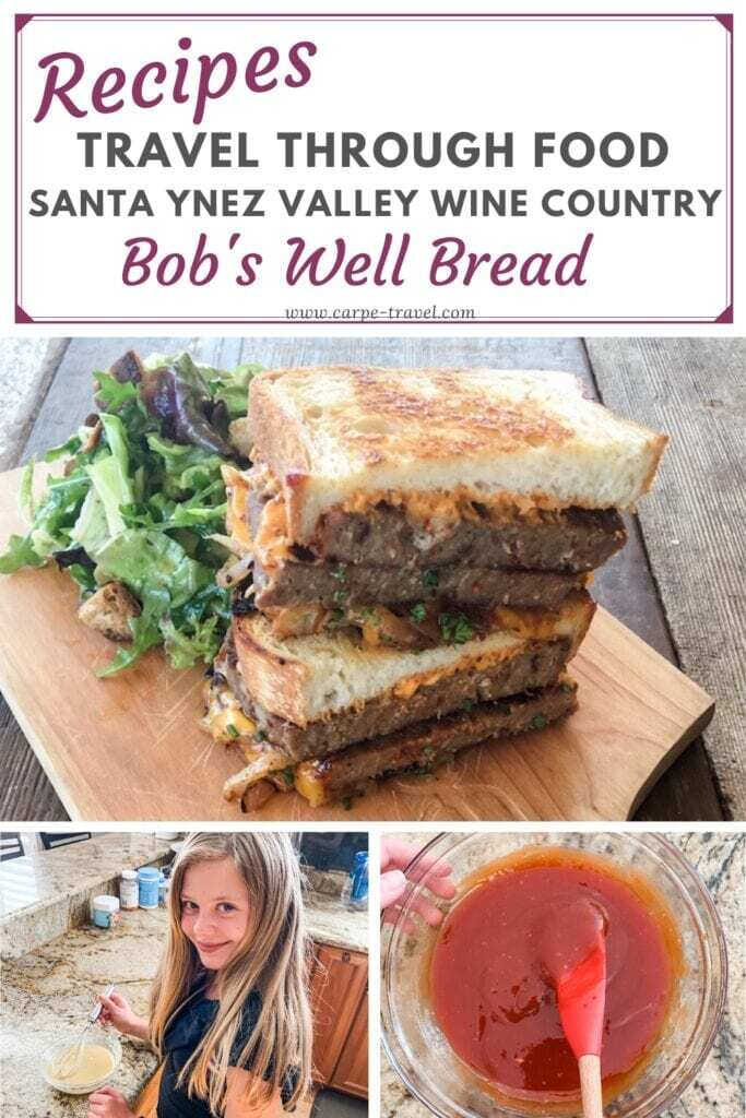 Meatloaf wine pairing! Get the recipe for a killer Meatloaf sandwich from Bob's Well Bread in Santa Ynez Valley Wine Country