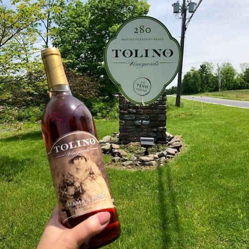 Tolina Vineayards, wine tasting in the Poconos
