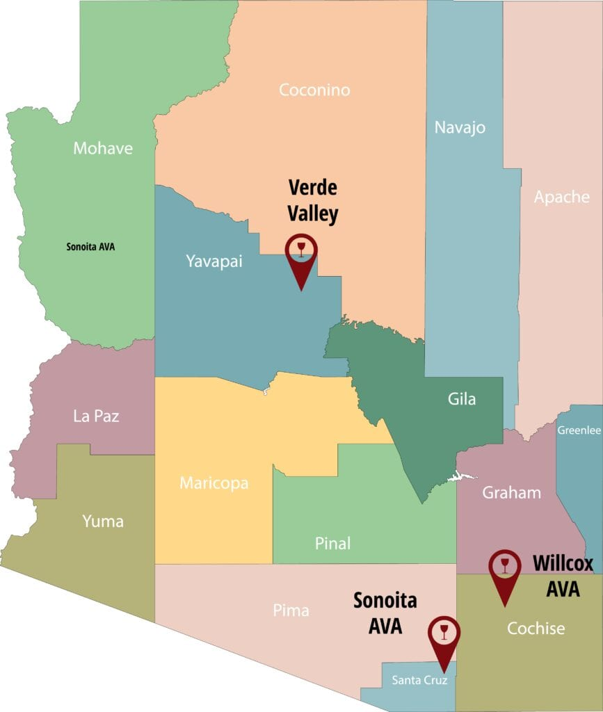 Arizona AVA Map