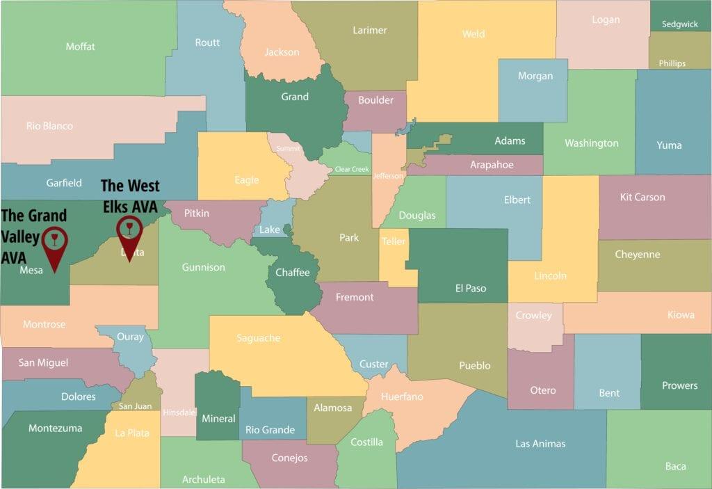 Colorado Wine AVA Map