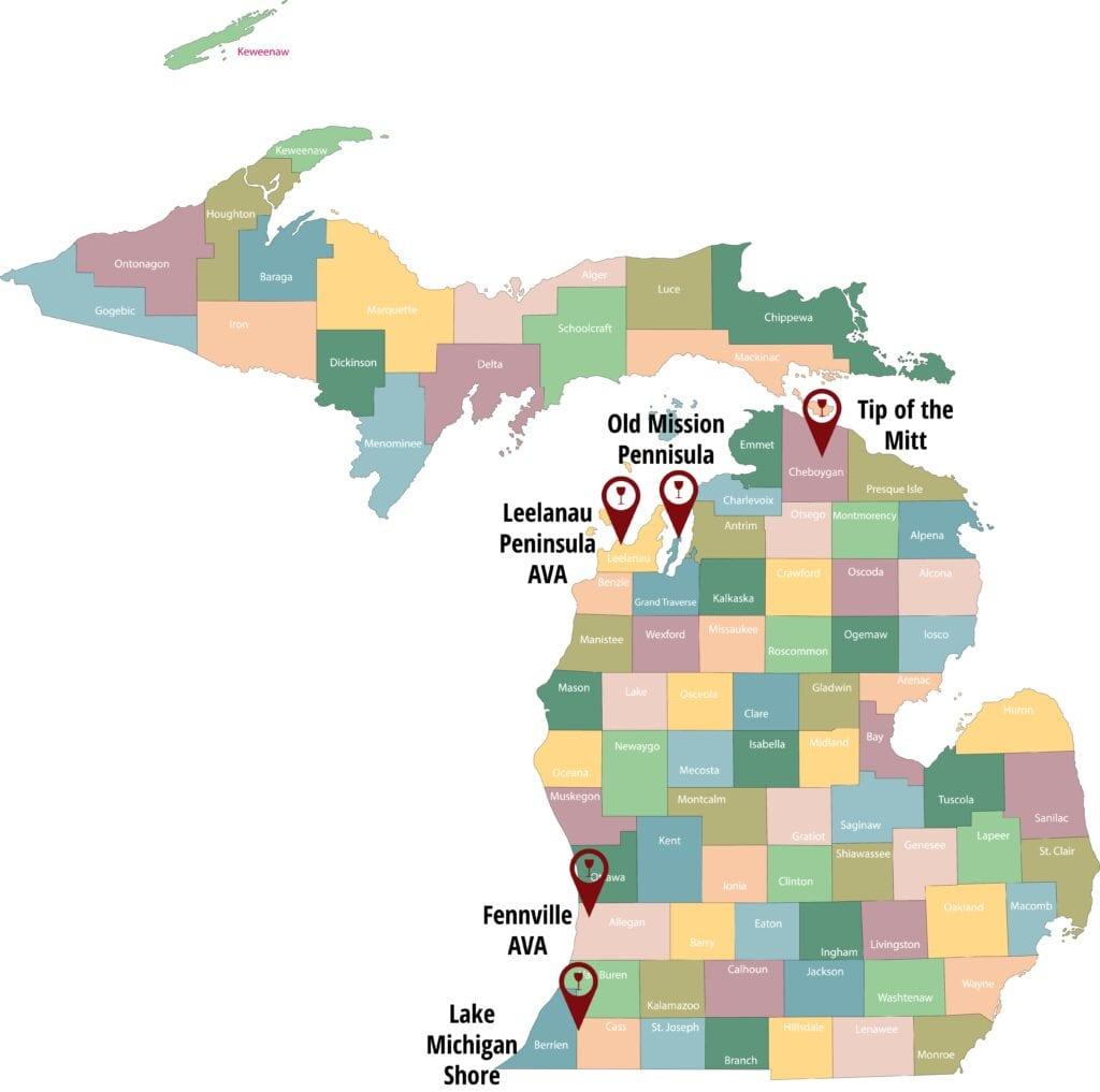 Michigan Wine AVAs