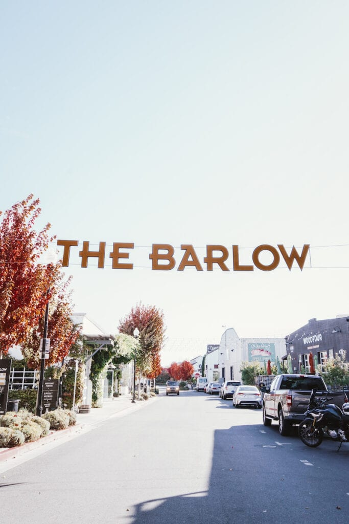 Head to the Barlow in West Sonoma County for wine tasting and delicious food