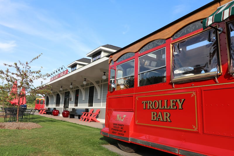 Door County Trolley Depot and Trolley Bar are located in Egg Harbor.
