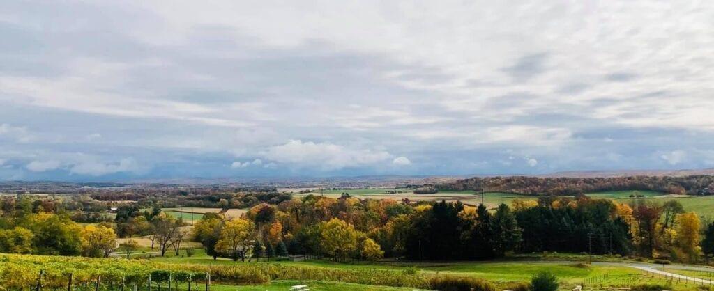 Million dollar view at Baraboo Bluff Winery Photo Credit Baraboo Bluff Winery