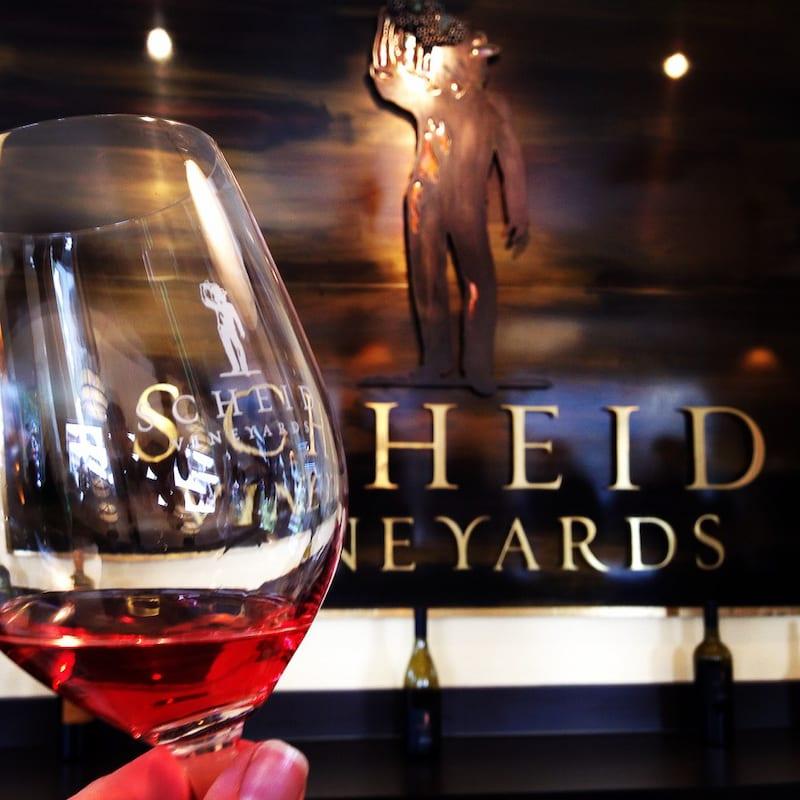 Monterey County wine tasting - Scheid Vineyards