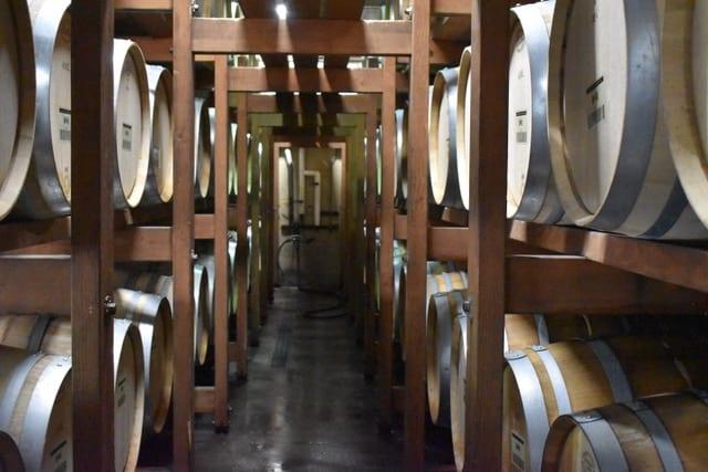 Bernardus winery in Monterey Chardonnay Barrels
